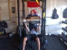 Kyle Clifford working out on his Cup Day
