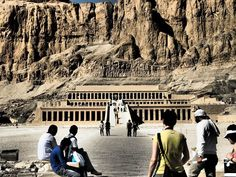 Temple of Queen Hatshepsut, cliffs at Deir el Bahari on the west bank of the Nile river. This is the only temple ever built by a female Pharaoh in Egypt.