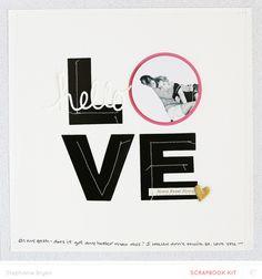LOVE by stephaniebryan at @studio_calico