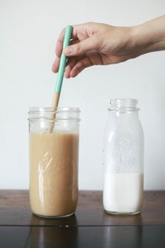 Iced ginger chai tea latte