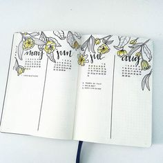 Looking for some #futurelog inspiration? This #botanical spread from @bonjournal_ is just perfection. #Repost @bonjournal_ ・・・ futurelog 2 of 3  #bulletjournalchallenge #bulletjournaljunkies #bulletjournallove  #bulletjournalcommunity #bulletjournal #plan