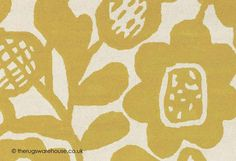 Kukkia Honey Rug - texture close up (Scion), a floral contemporary rug hand-tufted from 100% wool yarn in shades of gold/yellow & cream (3 sizes) http://www.therugswarehouse.co.uk/modern-rugs3/scion-rugs/kukkia-honey-rug.html