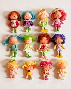 12 Vintage 1970s Strawberry Shortcake Dolls von lastprizevintage