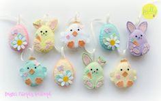 Rendere il tuo Kit di Pasqua gli amici ghirlanda in feltro. di PollyChromeCrafts | Etsy
