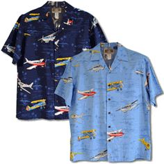 b1ab040e Every man's Airplanes Men's Hawaiian Kalaheo Label Shirt is Available  featuring Piper Club, Stearman B-Plane, Cessna 172 and 5 Beechcraft V Tail  Bonanza ...