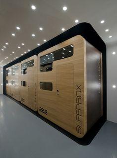 Sleepbox Hotel, Arch Group, Future Hotel, Futuristic Interior, Moscow, Russia, Futuristic Hotel, Sleepbox capsule, Sheremetyevo airport by FuturisticNews.com
