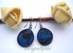 Earrings Blue Moon // Pendientes Blue Moon por Regalopia en Etsy, €5.00