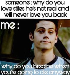 Sassy Stiles has a point get out my face teenwolf allisonargent stilesstilinski scottmccall Sassy Stiles has a point get out my face nbsp hellip wolf Teen Wolf Quotes, Teen Wolf Memes, Teen Wolf Funny, Teen Wolf Boys, Teen Wolf Dylan, Teen Wolf Stiles, Teen Wolf Cast, Really Funny Memes, Stupid Funny Memes