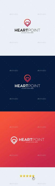 Heart Point Logo Template