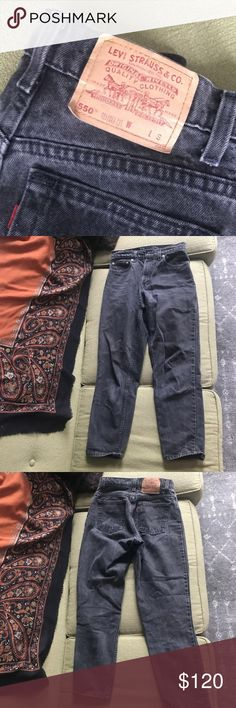 Vintage Levi Jeans Relaxed Fit Vintage Levi Jeans Relaxed Fit Tapered Jeans! Great condition only wore them 4 times. #levijeans #vintage #highwaisted #perfectfit #jeans #blackjeans Levi's Jeans