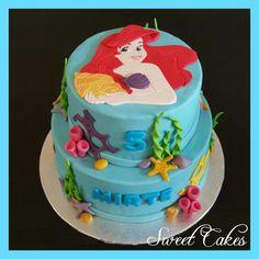 De Kleine Zeemeermin / Ariel taart by Sweet Cakes