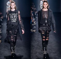 Triton 2014 Winter Womens Runway Collection - São Paulo Fashion Week Brazil - Inverno 2014 Mulheres Desfiles - Destroyed Ripped Skinny Color...