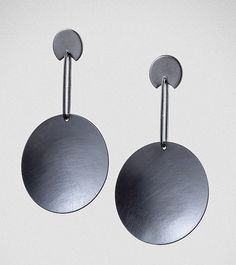 Big Round by Maja: Silver Earrings available at www.artfulhome.com