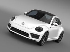 model: Let me represent you high poly model of VW Beetle RLine Cabrio 2014 (The Volkswagen Beetle is a compact car manufactured and marketed by Volkswagen.) with high detail. The model is . Vw Beetle Turbo, Volkswagen New Beetle, 2015 Cars, Car Illustration, Vw Cars, Vw Beetles, Pure Products, Sexy