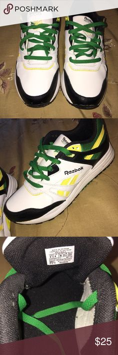 Jamaica flag nike af1 the sneaker stylist pinterest jamaica reebok hexalite shoes wore only 1 time mostly indoor reminds me of jamaican flag size in boys but i wear an 8 in womens and they fit voltagebd Gallery