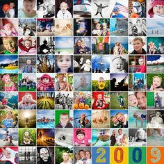 photo collage - I'm definitely going to make one of these for 2011