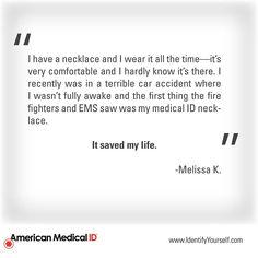 Medical IDs do work!