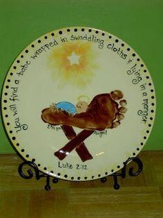 christmas footprint art | Handprint and Footprint Christmas Arts Crafts | Holiday