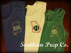 Comfort Colors Brand State Love Monogrammed by SouthernPrepCo, $24.00
