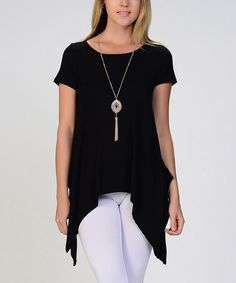 This Black Sidetail Tunic by Kokette is perfect! #zulilyfinds