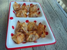 Raspberry and Brie filled Wantons . . . Yum! Appetizer, finger food, dessert
