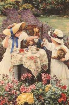 tea party with dollies