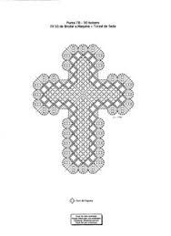 Image result for bobbin lace cross