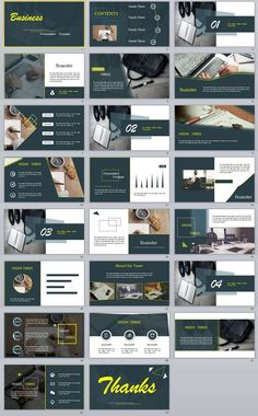 Simple Business PowerPoint templates - The most creative designs Slides Powerpoint, Simple Powerpoint Templates, Template Web, Powerpoint Slide Designs, Business Presentation Templates, Presentation Design Template, Presentation Layout, Ppt Design, Design Ideas