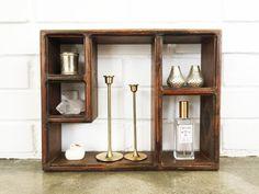 Vintage Wood Shadow Box - Display Shelf