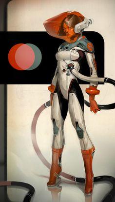 69 best ideas for sci fi concept art girl science fiction Sci Fi Kunst, Cyberpunk Kunst, Character Concept, Character Art, Concept Art, Heroine Marvel, Art Pulp, Science Fiction Kunst, Science Art
