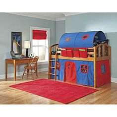 @Overstock - The Lowell Low Junior Loft from VP Home features features a lofted twin bed and tented play area. This loft bed creates the perfect place for your child to play, explore, sleep and dream.http://www.overstock.com/Home-Garden/VP-Home-Lowell-Junior-Loft-Honey-Birch-Twin-Loft-Bed/5318383/product.html?CID=214117 $599.99