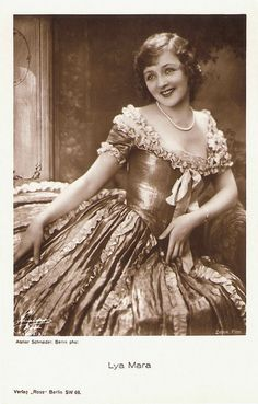Lya Mara - Polish silent film star. Born as Aleksandra Gudowiczówna