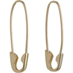 Loren Stewart Gold Safety Pin Earrings at Barneys.com