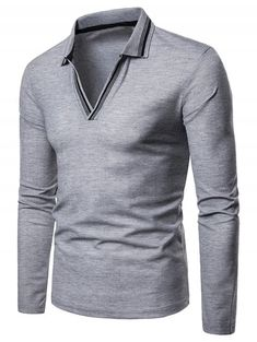 b1693d60fa1f 2018 Mens Solid Long Sleeve V-Neck T-Shirt Blouse Sweartshirts Tops