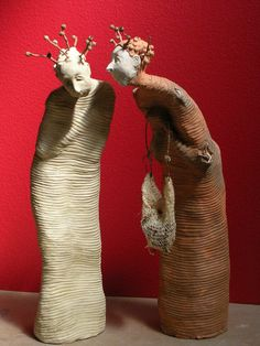 A Silent Solicitation One of a Kind Handmade Terra Cotta and Stoneware Sculpture by etonstreet