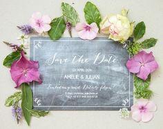 """Save the Date""""chalkboard heaven"""", online bestellbar bei www.papierhimmel.com"""