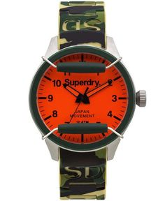 Superdry | Men's Scuba Camouflage Silicone Strap Watch 43mm IWW-D10310033…