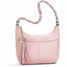 """Brighton - Shown: Barbados Ziptop Hobo $250.00; W 12"""" x H 9"""" x D 4"""" - Another great color for Spring & use for the gift certificate Brighton sent me.  (03.17.14)"""