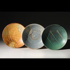 pottery plates.