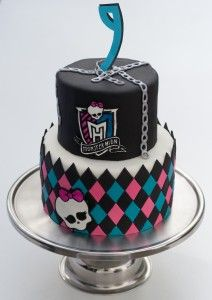 Guide to making this Monster High birthday cake from Decadent Diva Desserts. Also includes Monster High party ideas.