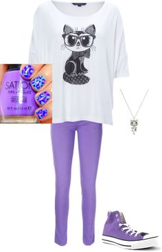 """""""Cat Lover's dream outfit"""" by mokayliz ❤ liked on Polyvore"""