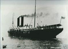 """Steamer """"Siberia"""" San Francisco [Atlantic Transport Line?]: 12x10in c.1915 Photo"""
