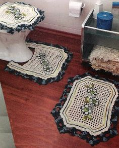 Elegant Crochet bathroom set ♥LCB♥ with diagram, click on the word GRAFICO to see it.