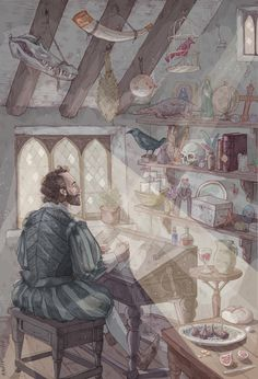 Shakespeare in his study