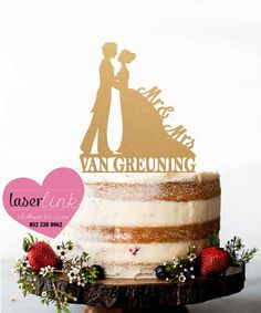 Custom made laser cut wedding and party cake toppers. Party Cakes, Laser Cutting, Cake Toppers, Birthday Cake, Wedding, Shower Cakes, Valentines Day Weddings, Birthday Cakes, Weddings