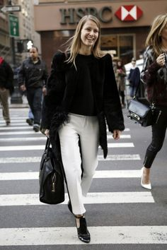 New York Fashion Week Fall 2013 Street Style / Photo by Anthea Simms