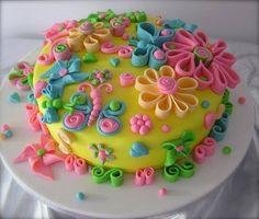 Cute little girl birthday cake