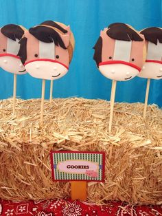 Horse cookies at a Farm Party #farm #party