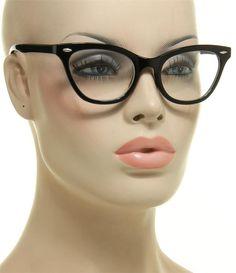 ed3d7ecf9d Women s Eyeglasses Cat Eye 1950 s Retro Vintage Black Frame Glasses Clear  Lens Optical Glasses