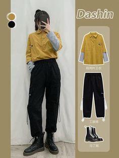 Kpop Fashion Outfits, Tomboy Fashion, Mode Outfits, Streetwear Fashion, Korean Fashion Kpop Inspired Outfits, Style Fashion, Fashion Jewelry, Fashion Hacks, 2000s Fashion